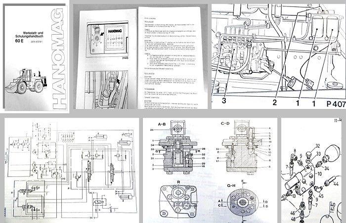 Werkstatthandbuch Hanomag 60E Radlader Schulungshandbuch 1991 ...
