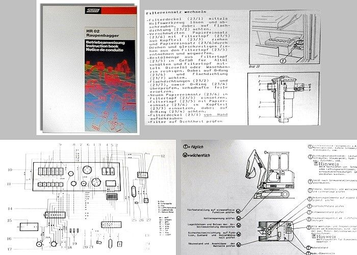 Betriebsanleitung Schaeff HR02 HR2 Raupenbagger 1988 ...