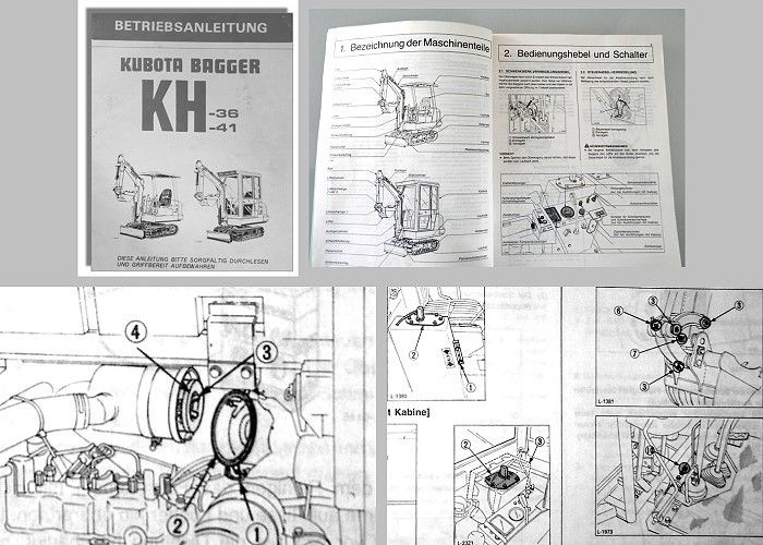 betriebsanleitung kubota kh 36 kh 41 bagger bedienung. Black Bedroom Furniture Sets. Home Design Ideas