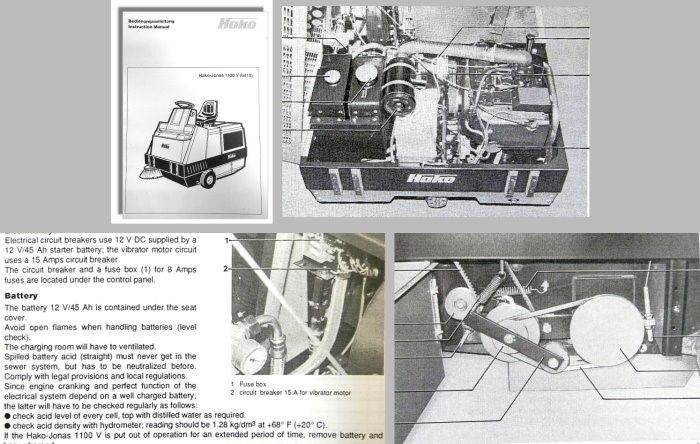 betriebsanleitung hako jonas 1100v 6410 kehrmaschine. Black Bedroom Furniture Sets. Home Design Ideas