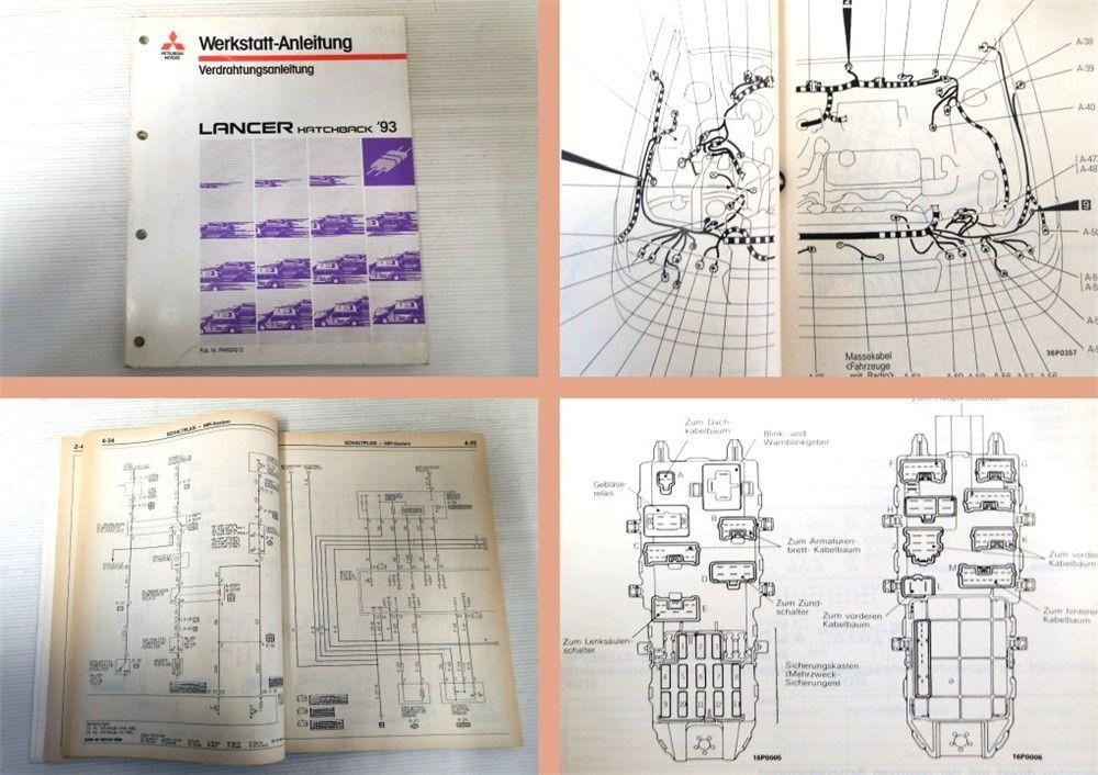 Werkstatthandbuch Mitsubishi Lancer 1993 Schaltpläne Kabelbaum CA60 ...