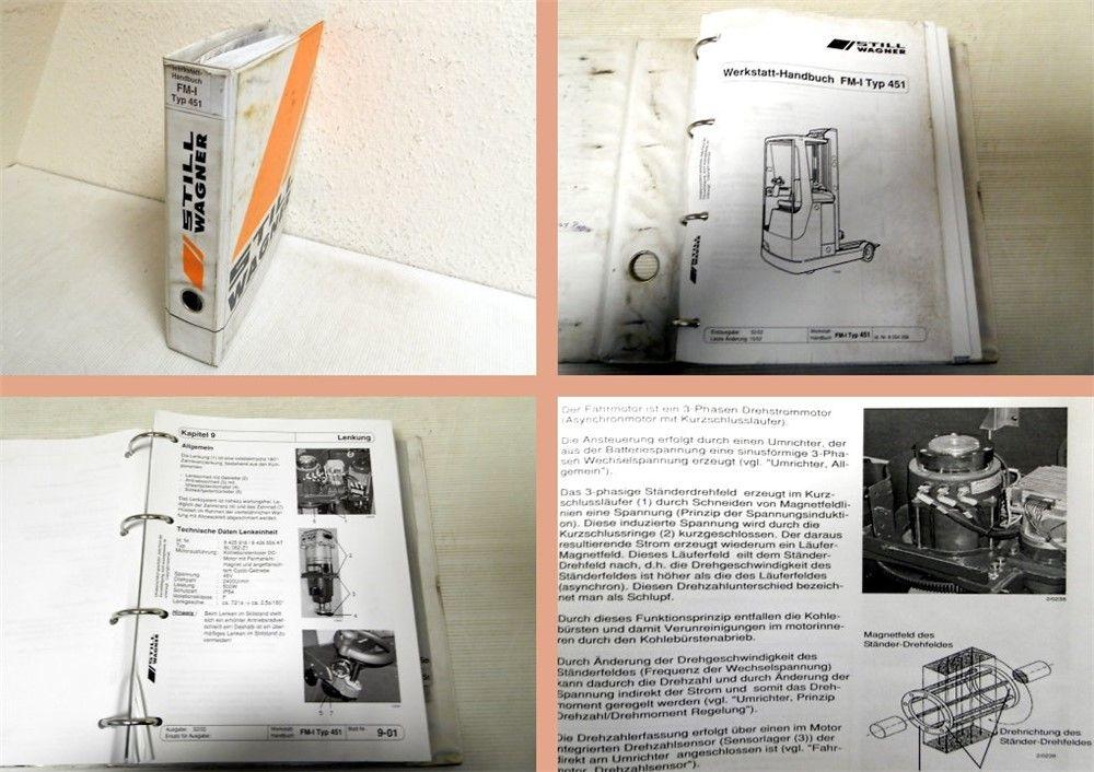 werkstatthandbuch still wagner fm i typ 451 stapler reparaturanleitung 2002. Black Bedroom Furniture Sets. Home Design Ideas