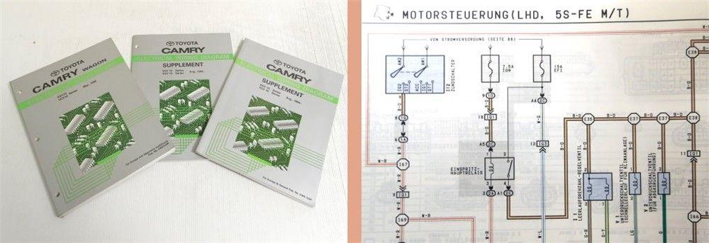Werkstatthandbuch Toyota Camry Wagon Schaltplan Elektrik 1992-19 ...