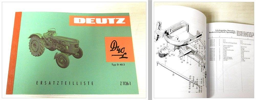 ersatzteilkatalog deutz d40 l typ d40 2 ersatzteilliste. Black Bedroom Furniture Sets. Home Design Ideas