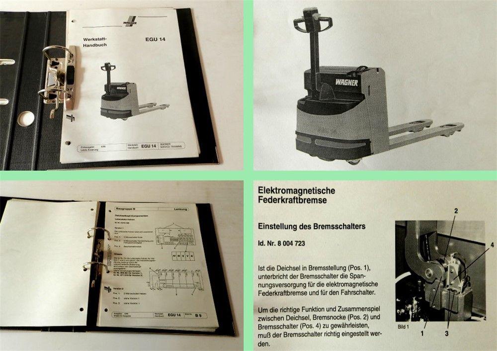 wagner egu14 niederhubwagen werkstatthandbuch. Black Bedroom Furniture Sets. Home Design Ideas