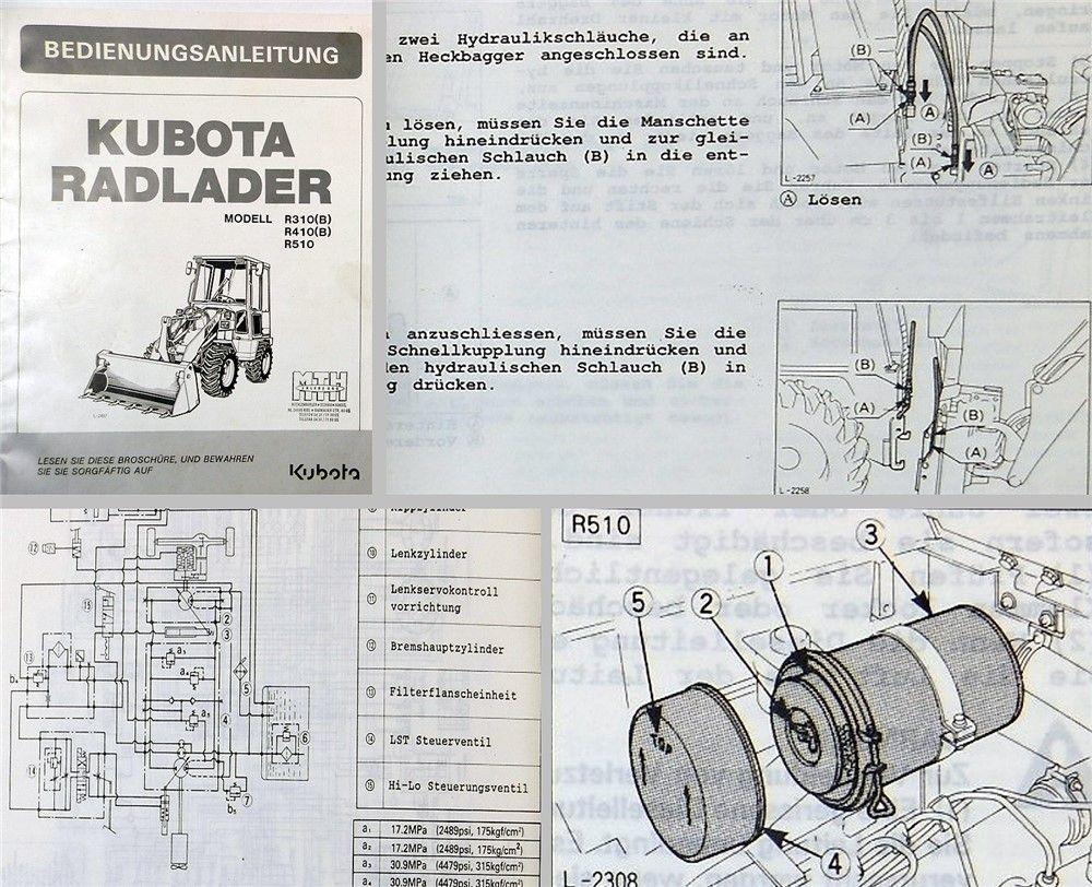 Betriebsanleitung Kubota R310 (B) R410 (B) R510 ...