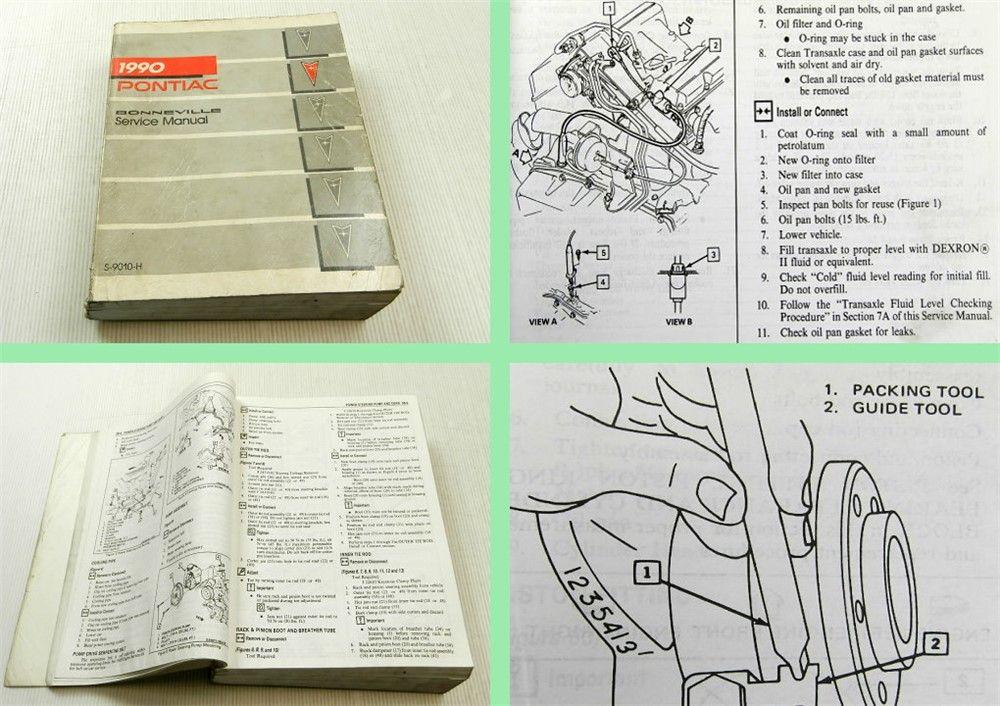 GM General Motors Pontiac Bonneville Service Manual 1990 ...