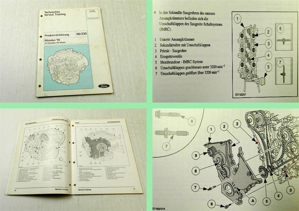 Werkstatthandbuch Ford Mondeo 1995 2,5 Duratec VE Motor ...