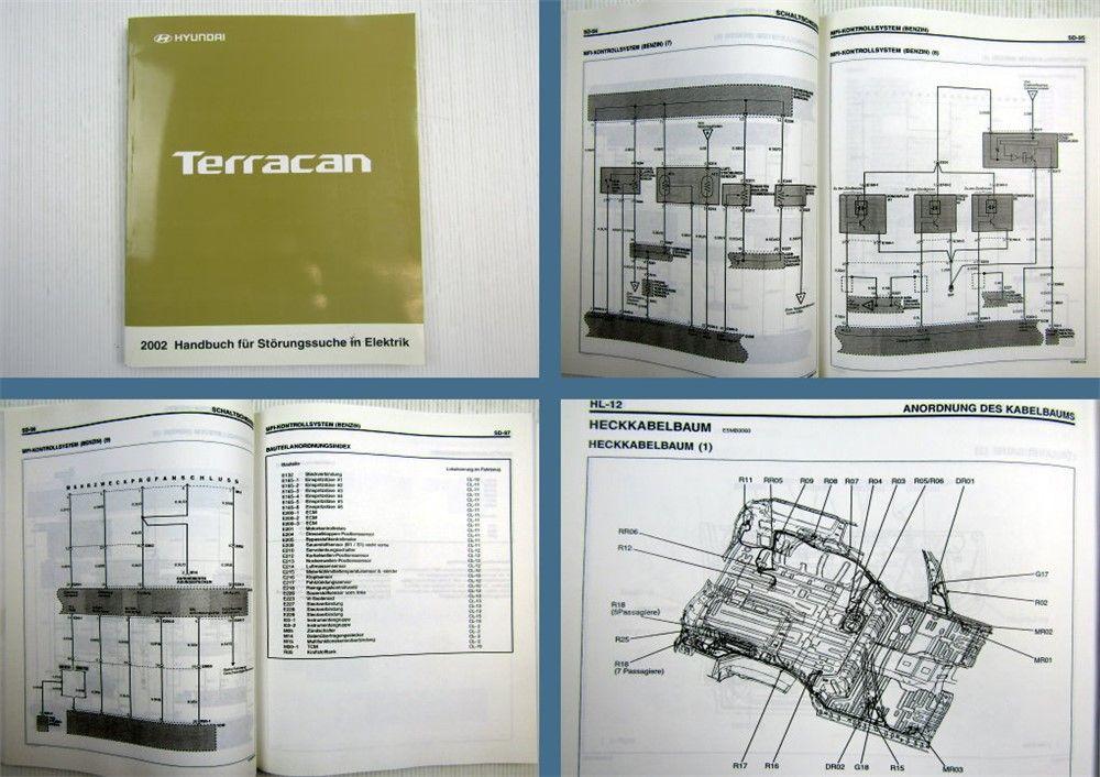Werkstatthandbuch Hyundai Terracan Elektrische Schaltpläne 2002 ...
