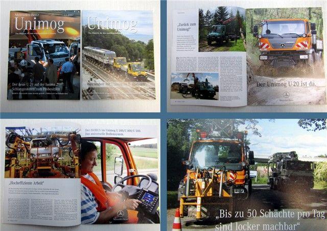 Mercedes Benz Unimog Zeitschrift 1/2007 + 2/2007 Magazin Zeitung - Fachliteraturversand An- u ...