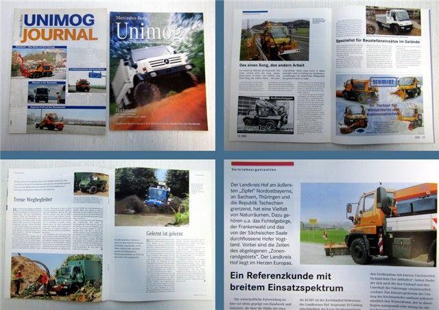 Mercedes Benz Unimog Zeitschrift 1/2002 + 2/2002 Magazin ...