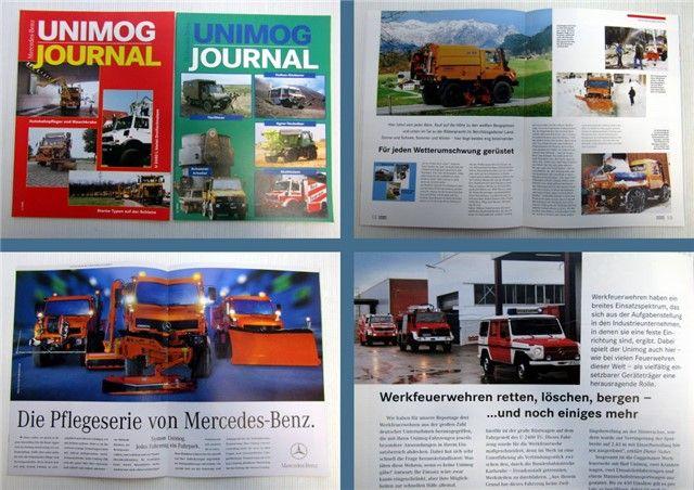 Mercedes Benz Unimog Zeitschrift 1/1999 + 2/1999 Magazin ...