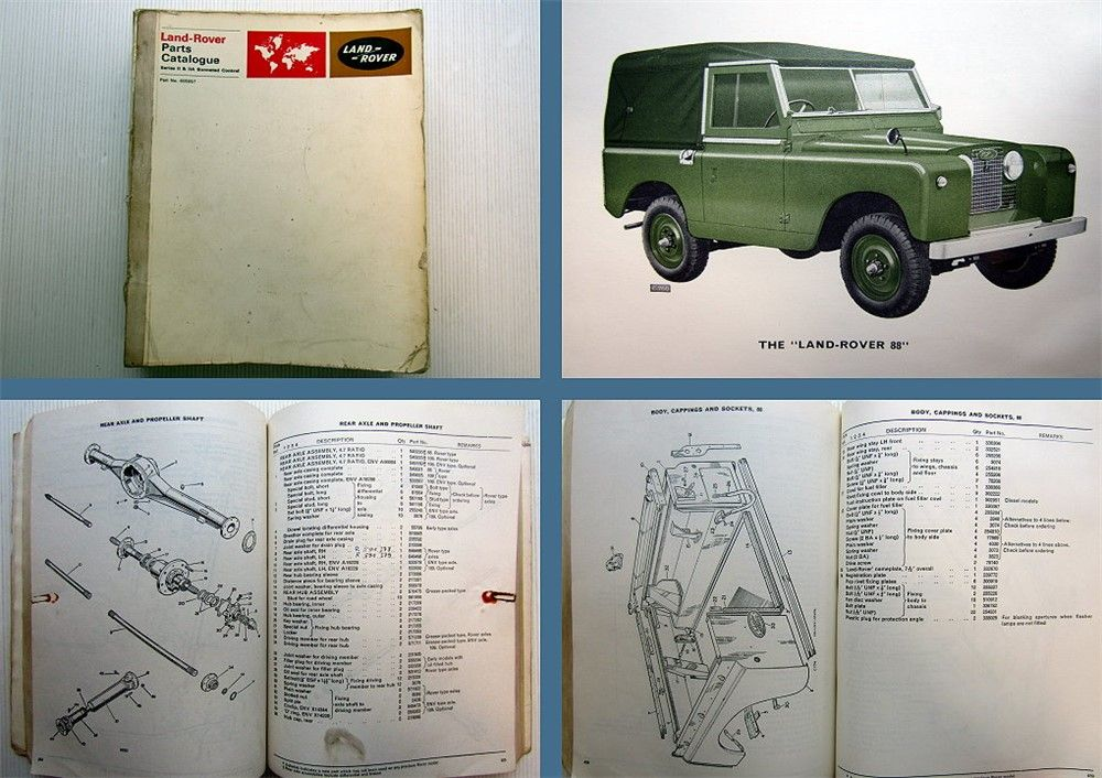 landrover land rover serie ii iia parts catalogue parts. Black Bedroom Furniture Sets. Home Design Ideas