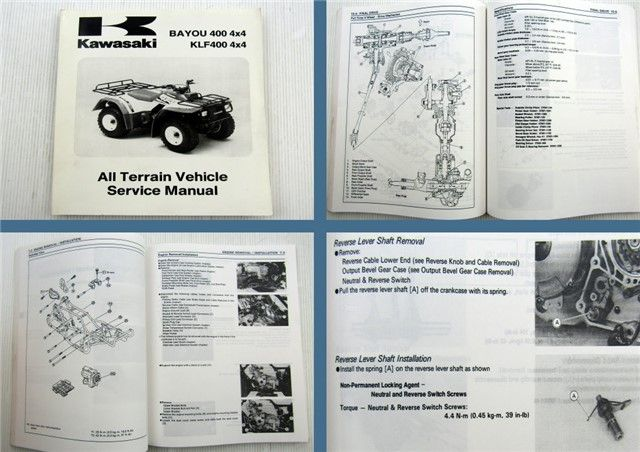 Kawasaki Bayou Klf 400 4x4 All Terrain Vehicle Quad