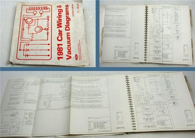 Ford 1981 Car Wiring  U0026 Vacuum Diagrams Mustang Thunderbird