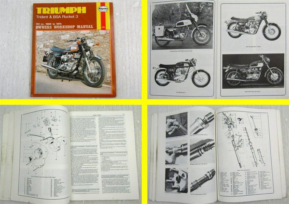 Triumph Trident  U0026 Bsa Rocket 3 741cc 1969 To 1975 Owners Workshop Manual
