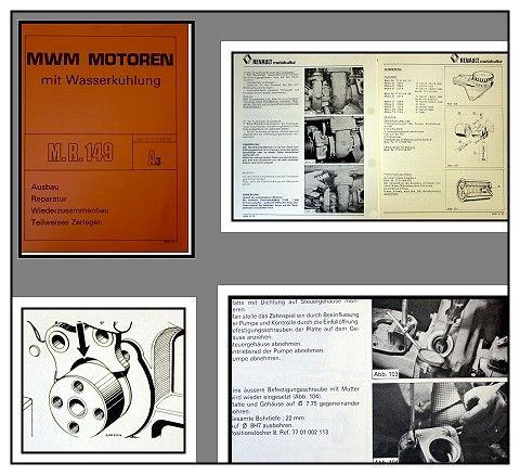 Werkstatthandbuch Mwm D226 D227 Td226 Td228 Reparaturanleitung