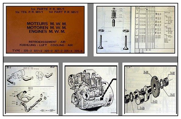 MWM Werkstatthandbuch Motoren inkl Ersatzteilliste für Traktor D327-2