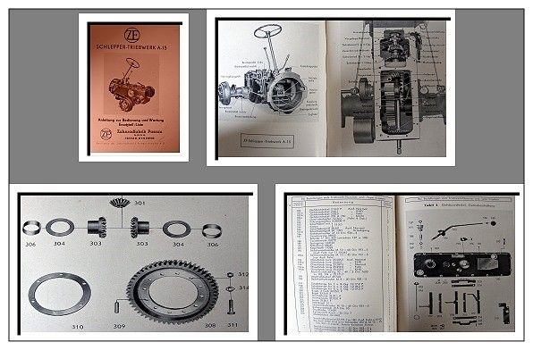 zf a15 a 15 getriebe bedienungsanleitung ersatzteilliste. Black Bedroom Furniture Sets. Home Design Ideas