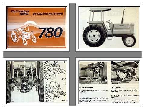 fiat 780 dt traktor betriebsanleitung 1978. Black Bedroom Furniture Sets. Home Design Ideas
