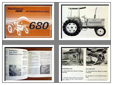 fiat 680 dt traktor betriebsanleitung 1978. Black Bedroom Furniture Sets. Home Design Ideas