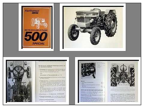 fiat 500 special dt traktor betriebsanleitung 1979. Black Bedroom Furniture Sets. Home Design Ideas