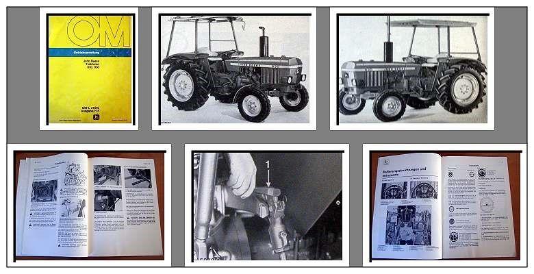John Deere 830 930 Schlepper Betriebsanleitung ...