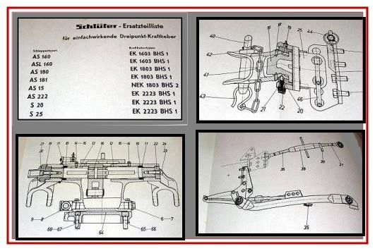 Schlüter S / AS / ASL 160 180 181 222 S20 S25 AS15 Ersatzteilliste ...
