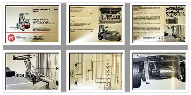 Linde E10, E12, E15 Gabelstapler Betriebsanleitung ...