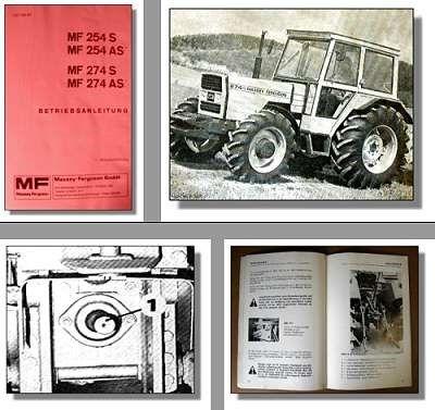 massey ferguson mf 254s 254as 274s 274as traktor. Black Bedroom Furniture Sets. Home Design Ideas