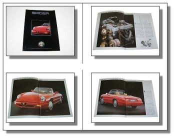 Alfa Romeo Spider 2.0 Prospekt 20 Seiten 1990 Technik Design Ausstattung