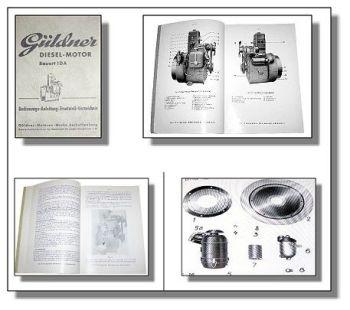 Güldner 1DA Motor Bedienungsanleitung & Ersatzteilliste