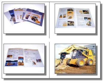 7x Case Kompaktlader Unilader Anbauten Prospekt 1995-02