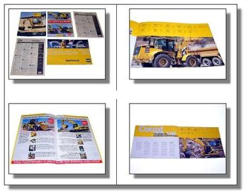 3x CAT Zeppelin Lader Bagger Bauma Prospekt Datenblatt