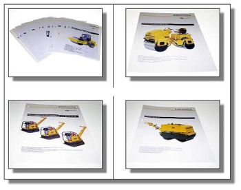 23 x Vibromax Walze Platte Zug Stampfer Prospekt 92/97
