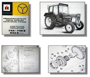 IHC 743, 745S, 844S Traktor Ersatzteilkatalog 1980