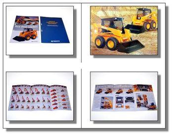 2 x Daewoo Lader Bagger Dozer Komplettprogramm Prospekt