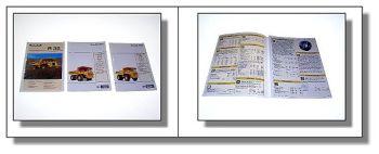 3 x Euclid R32 R35 R50 Muldenkipper Prospekt 1989/90