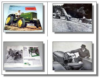 John Deere 100 Kleinschlepper Traktor Prospekt 1962/63