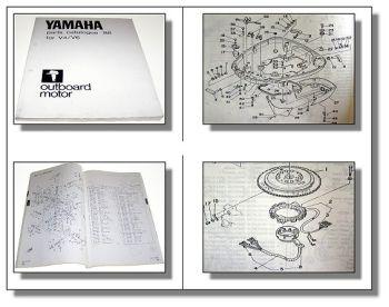 Yamaha V4 V6 Außenbordmotor Outboard motor Parts Catalogue 1988