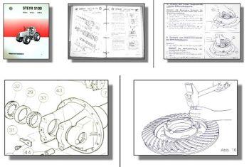 Steyr 9155 9170 9190 + Allrad Traktor Werkstatthandbuch