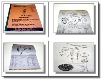 Holder H4 Mehrzweckgerät Ersatzteilkatalog 1979 mit Sachs Stamo 96L