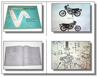 Honda CB250T CB400T Parts List Ersatzteilliste 1977