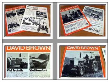 David Brown 775 bis 1210 Traktoren - 2 Prospekte