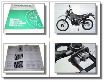 Honda MTX50R MTX80R Shop Manual Werkstatthandbuch 1983 Reparaturanleitung