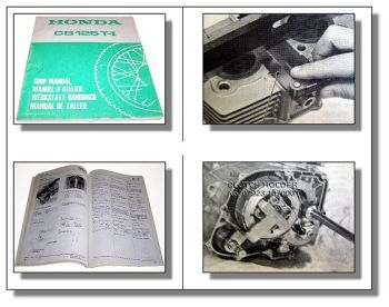 Werkstatthandbuch Honda CB125 T1 CB125T Reparaturanleitung 1977 Shop Manual