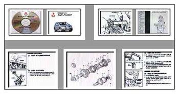 Mitsubishi Outlander CW8W 2007 Werkstatthandbuch CD Reparaturanleitung