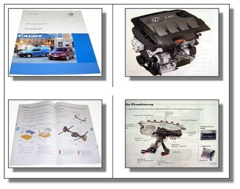 SSP 472 VW Caddy 2011 Schulungshandbuch Technische Daten Fahrwerk Elektrik Klima