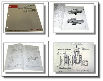 Toyota Hilux RZN LN KZN KDN Fahrzeug Merkmale Werkstatthandbuch 2001