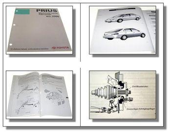 Toyota Prius Fahrzeugmerkmale Werkstatthandbuch NHW11 2000